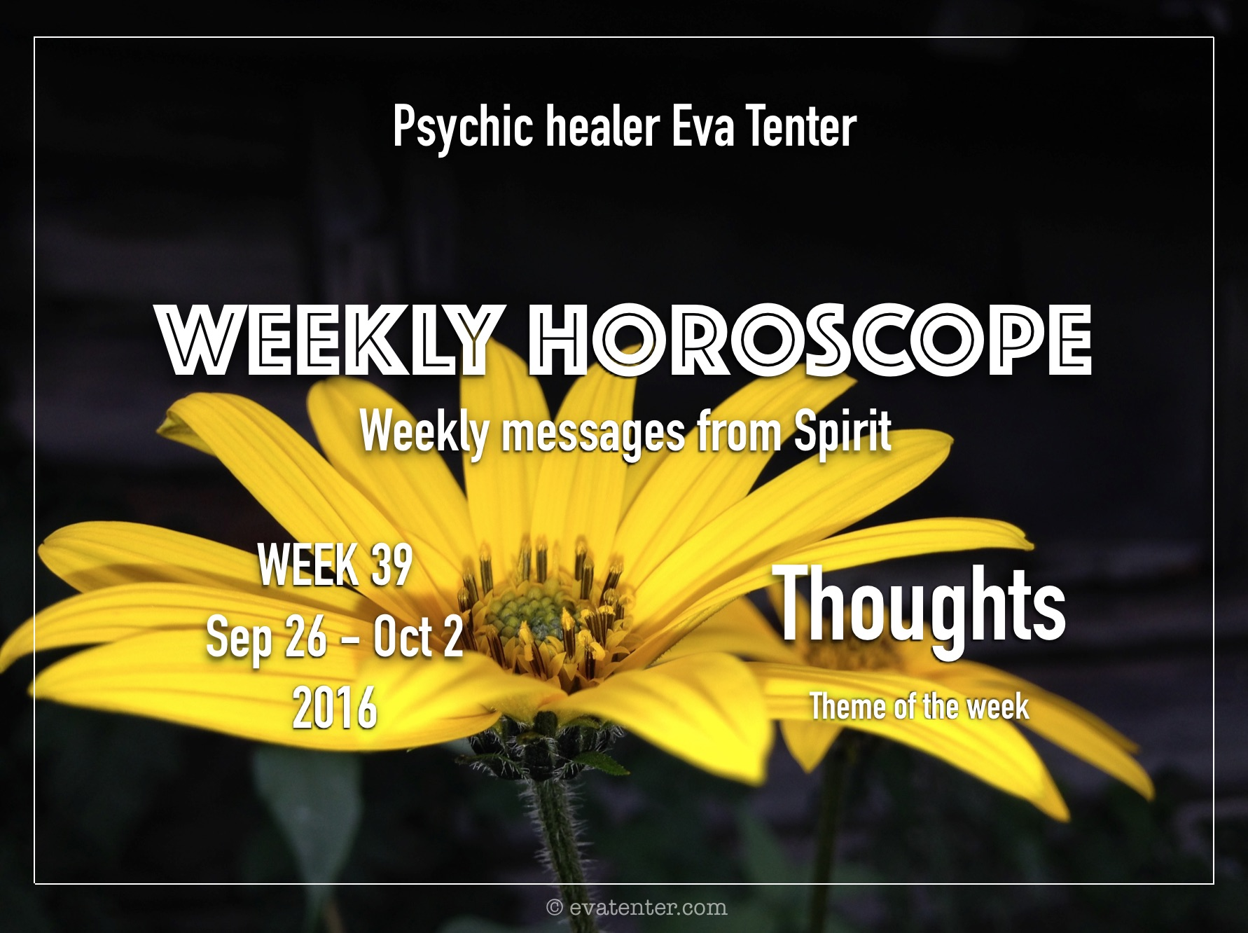 Weekly Horoscope 26.09-02.10.2016 #horoscopes