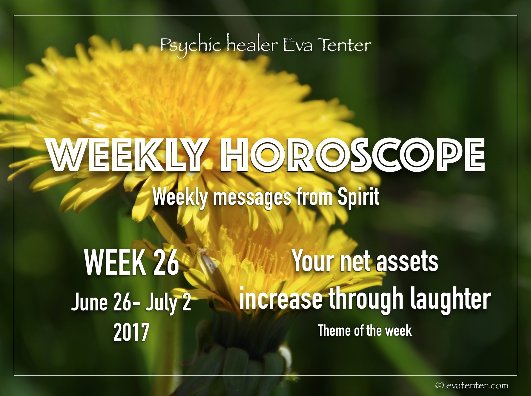 Weekly horoscope June 26-July 2, 2017 #horoscope #psychicreading