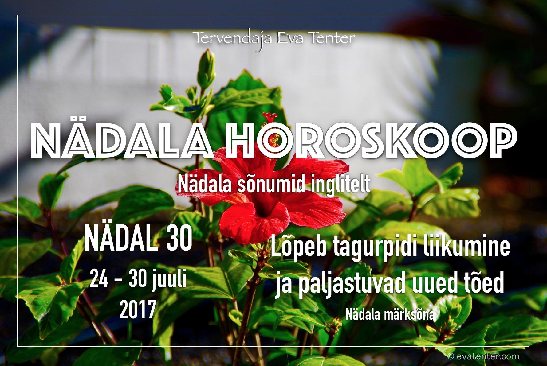 Nädala horoskoop 24.07-30.07.2017