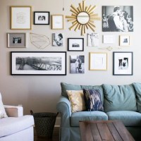 Living Room Gallery Wall Ideas | Desainrumahkeren.com