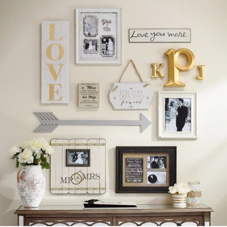 DIY Gallery Wall Idea For Displaying Wedding Pictures