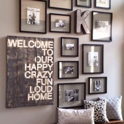 Living Room Decorating Ideas Picture Frames Tan Sofa Diy Gallery Wall Accent To Copy Using All The Same On Your Can Give It A Neat And Organized