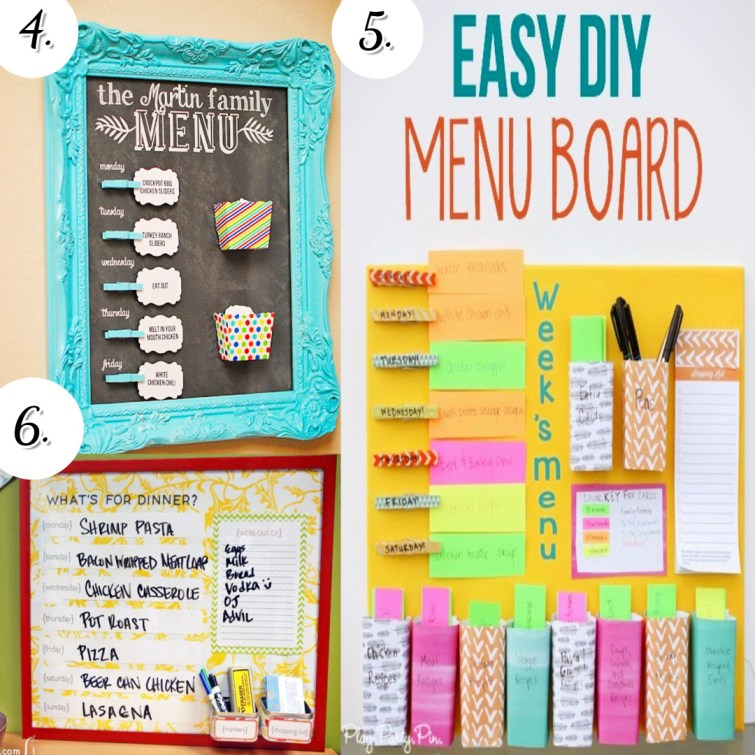 DIY meal planning board ideas to copy