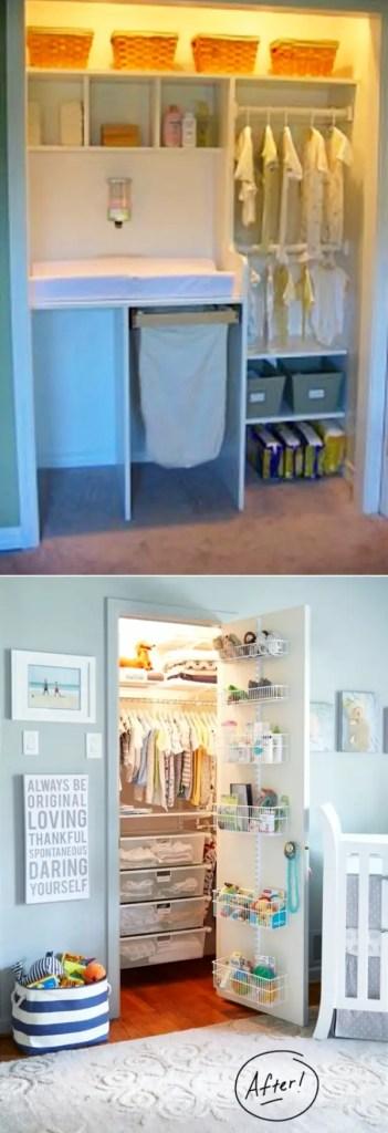 Baby Closet Organization Ideas - How To Organize the Baby Closet - DIY Nursery Closet Organization Ideas