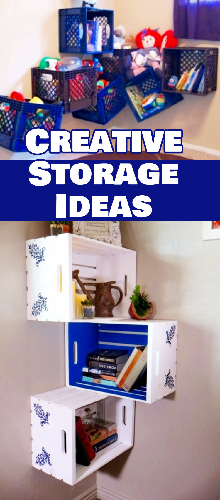 Home storage ideas and creative storage solutions for small spaces, small rooms, RVs, campers, apartments and condos