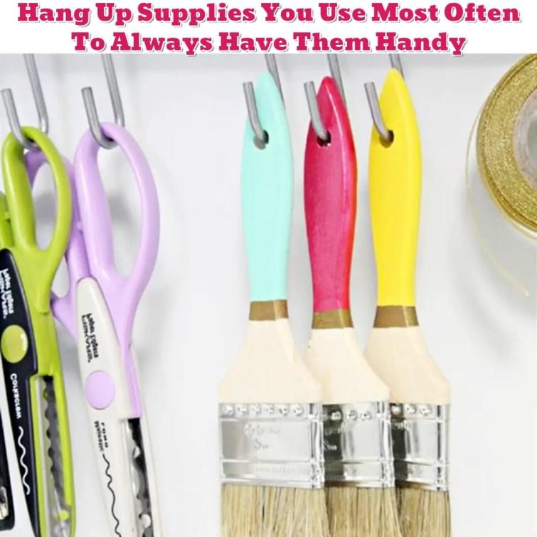 Craft supplies organization ideas - Getting Organized - 50+ Easy DIY organization Ideas To Help Get Organized