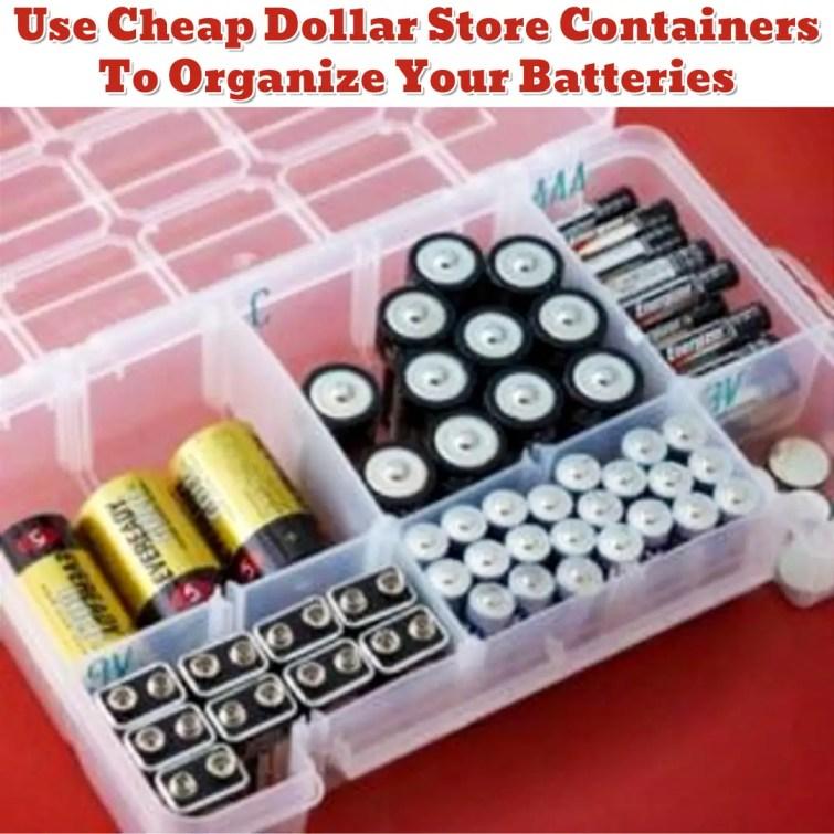 Junk Drawer Battery Organization - Getting Organized - 50+ Easy DIY organization Ideas To Help Get Organized