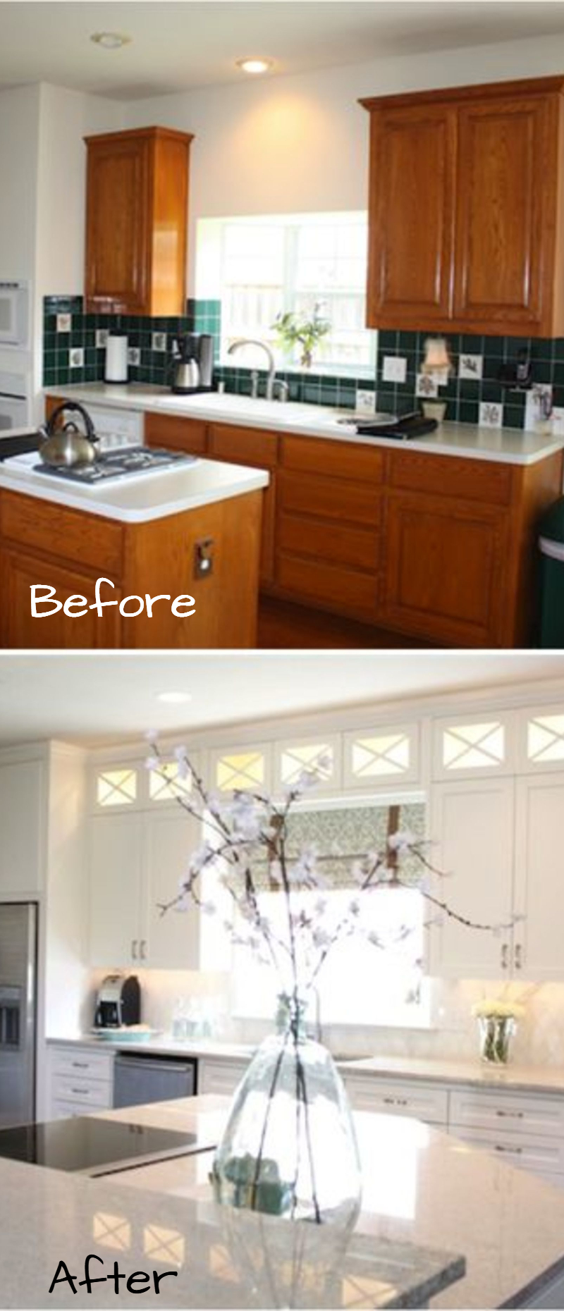 tiny kitchen remodel cabinets on a budget small remodels before and after pictures to drool over of makeovers kitchenideas farmhousedecor