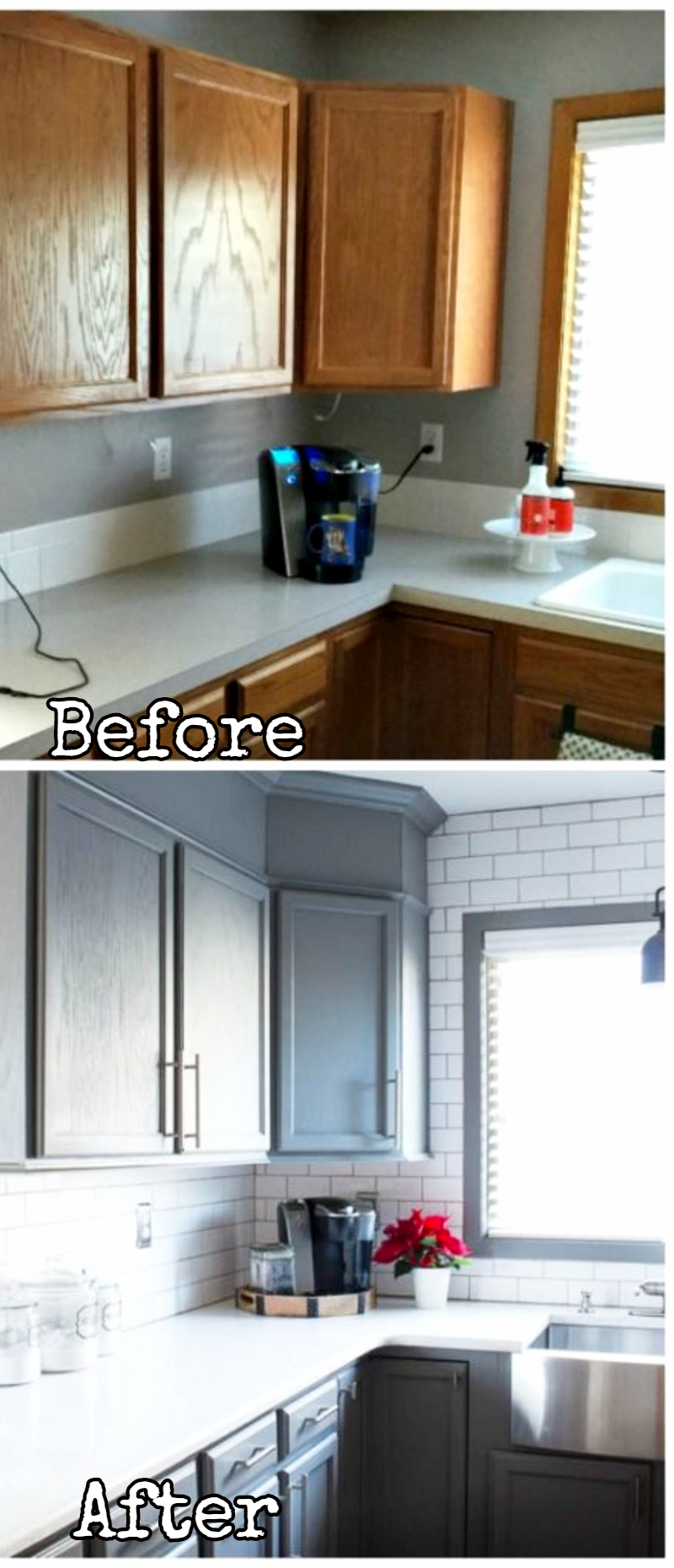 Small Kitchen Remodel   Before And After Pictures Of Small Kitchen  Makeovers #kitchenideas #farmhousedecor