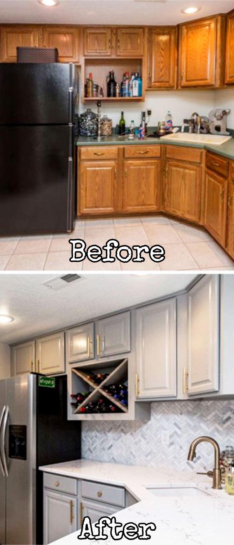 tiny kitchen remodel average cost for cabinets small remodels before and after pictures to drool over of makeovers kitchenideas farmhousedecor