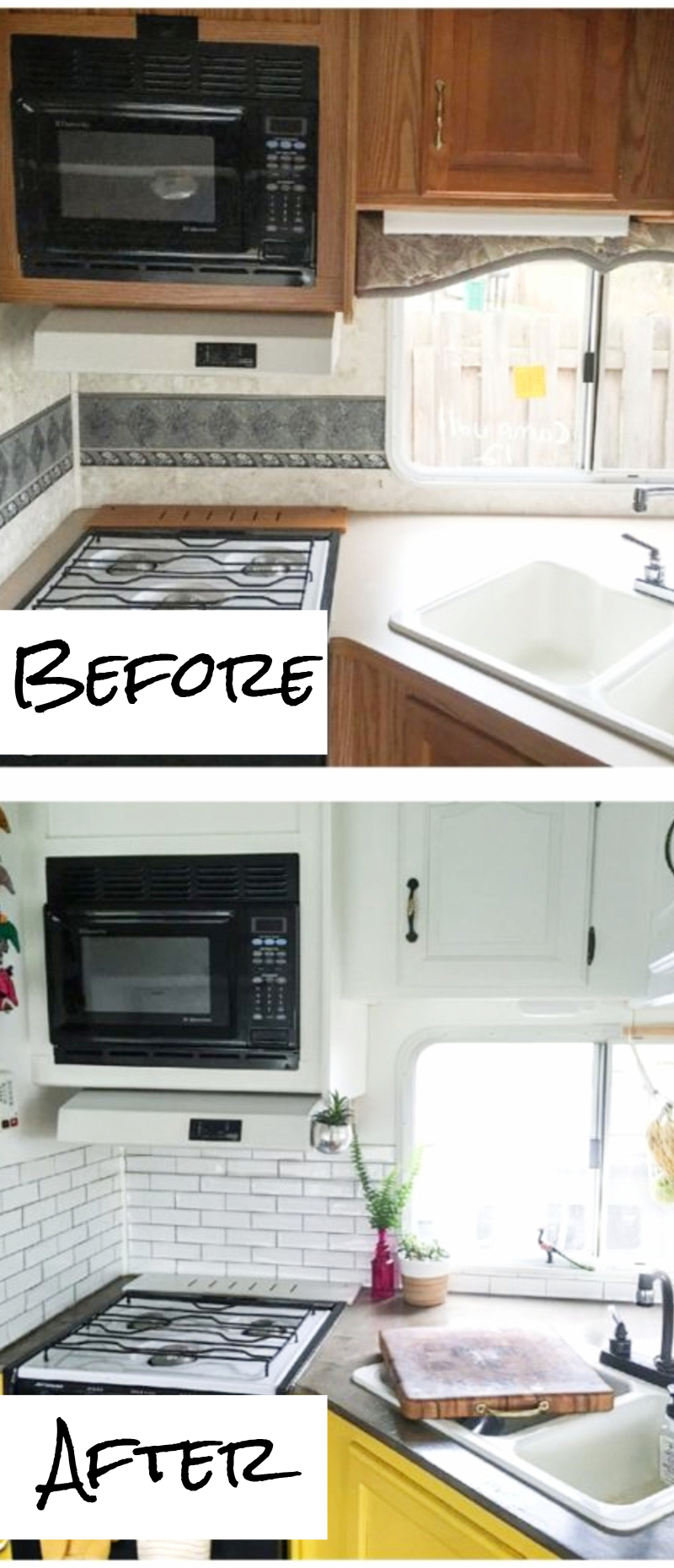 tiny kitchen remodel fork small remodels before and after pictures to drool over rv makeovers kitchens ideas kitchenideas