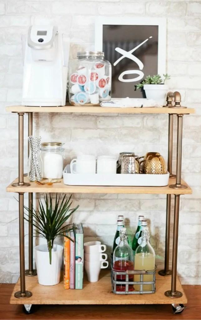 kitchen coffee bars 30 diy kitchen coffee area ideas. Black Bedroom Furniture Sets. Home Design Ideas