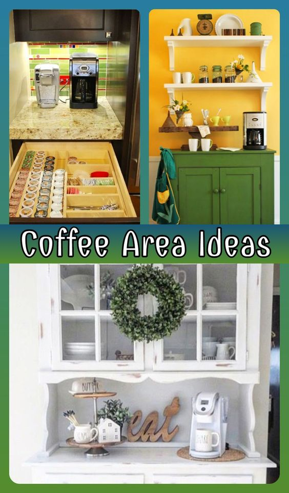 Coffee area ideas and pictures - best coffee bar ideas on Pinterest... LOVE them ALL!