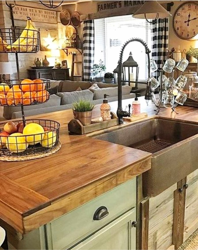 country kitchen ideas farmhouse style clean crisp amp organized farmhouse 13245