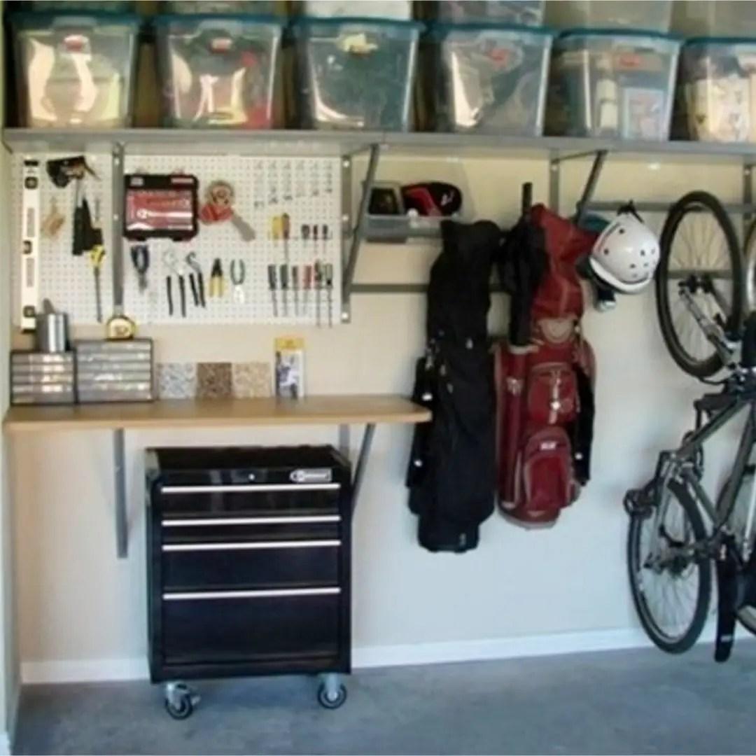 Garage Storage Ideas DIY #garagestorage #getorganized #garageorganization  #organizationideasforthehome #gettingorganized #springcleaning