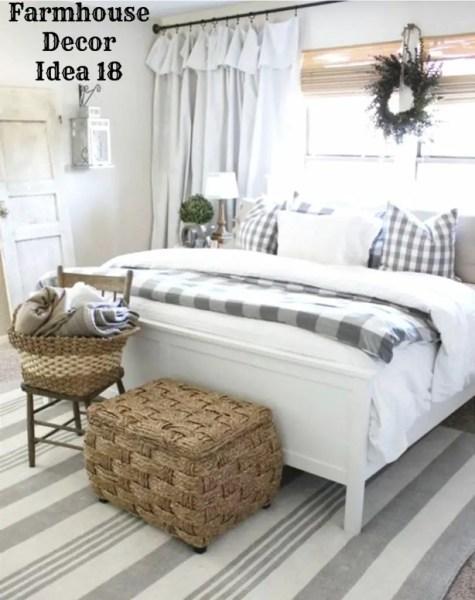 country farmhouse bedroom decorating ideas {Farmhouse Decor!} Clean, Crisp & Organized Farmhouse Style Decor Ideas