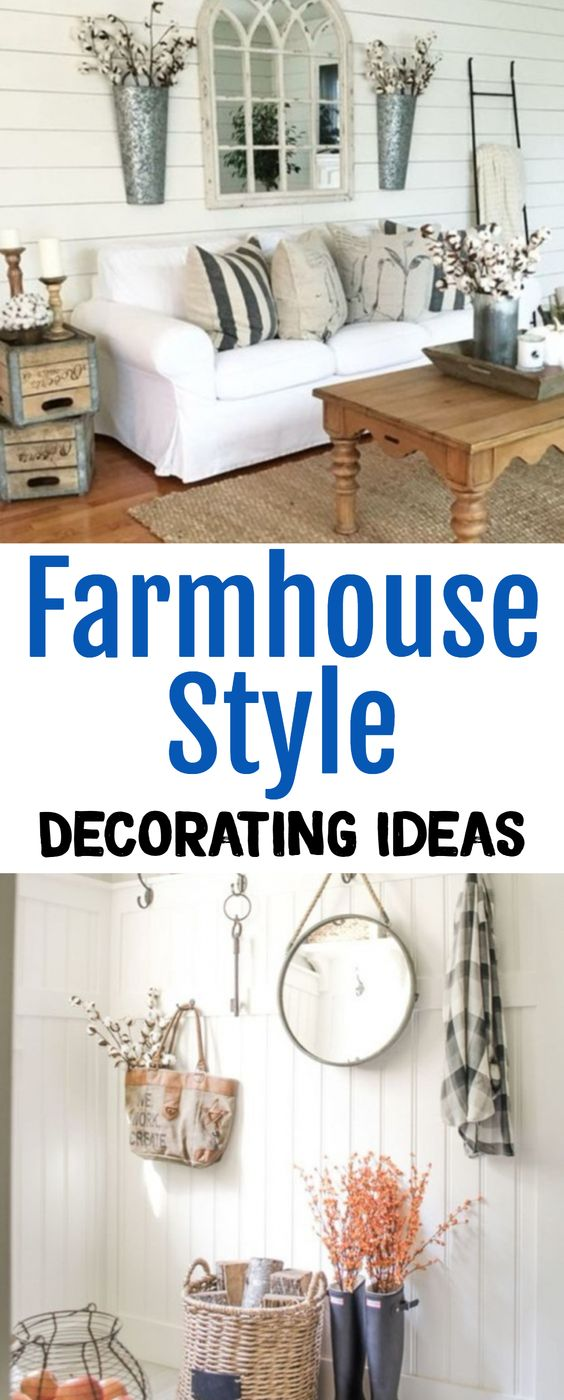 Farmhouse Style Decorating Ideas For Every Room In Your Home   GORGEOUS Farmhouse  Decor Ideas