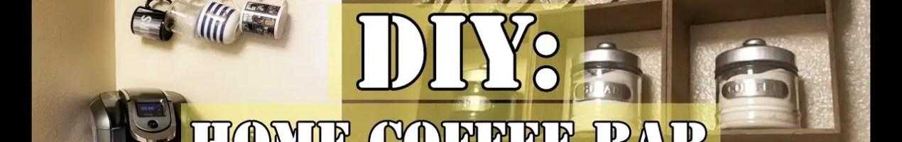 Kitchen coffee area ideas - DIY coffee area set up ideas #kitchenideas #diyroomdecor #homedecorideas #diyhomedecor #farmhousedecor