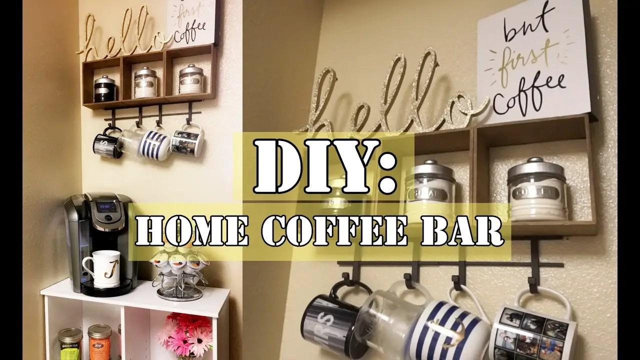 Kitchen Coffee Bars U2013 30+ DIY Kitchen Coffee Area Ideas