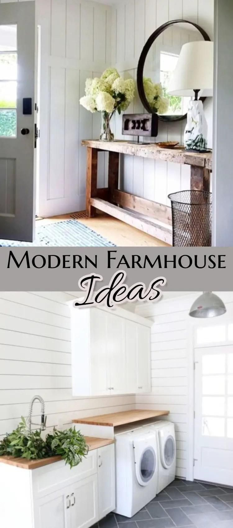Modern Farmhouse Decorating Ideas for Every Room in Your Home - GORGEOUS farmhouse decor ideas!