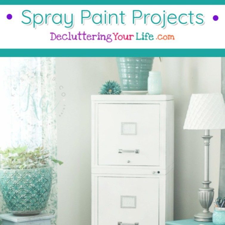Spray Paint DIY Projects - Easy do it yourself ideas #diyprojects #gettingorganized #organizationideasforthehome