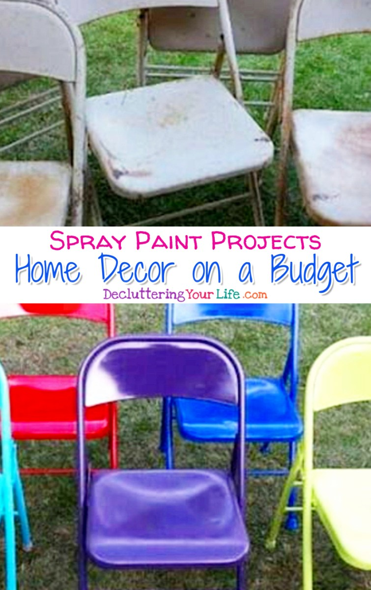 Cheap DIY Home Decor Projects For Organizing Your Home - Cheap and easy spray paint projects to transform your home or office