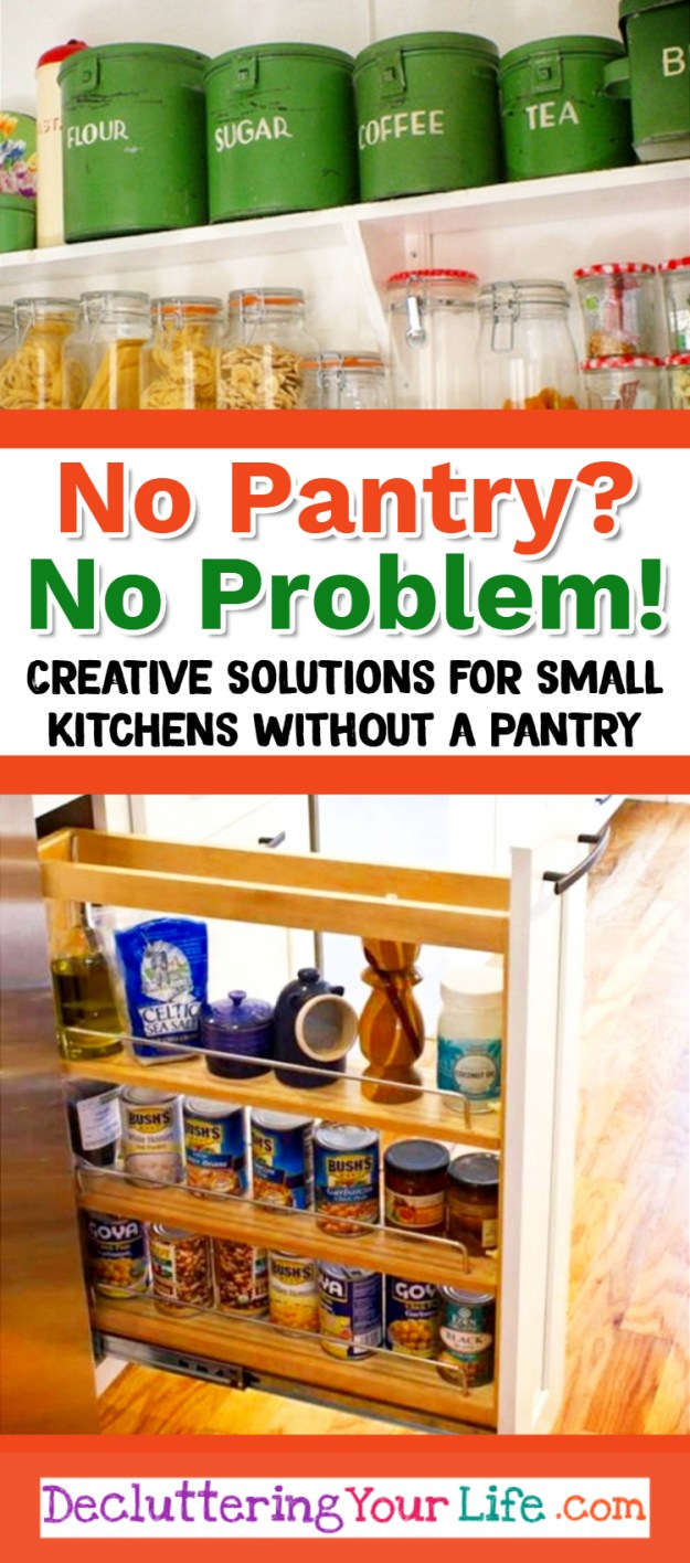 no pantry? how to organize a small kitchen without a pantry