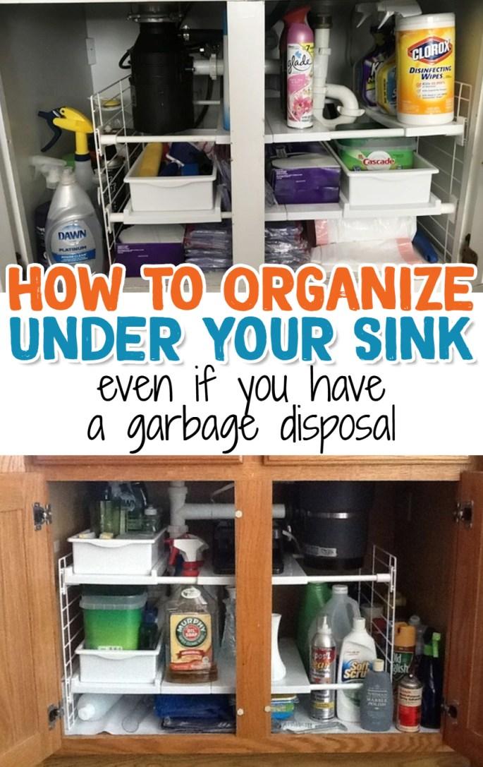 Cheap easy ways to organize under your sink on a budget under kitchen sink organization ideas even with garbage disposal gettingorganized kitchenideas organizationideasforthehome workwithnaturefo