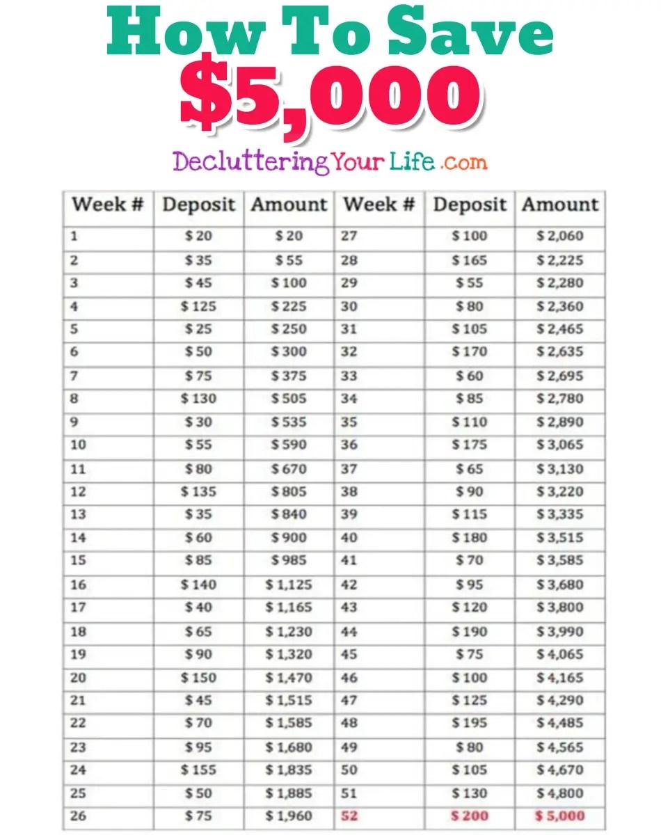 26 week money challenge pdf
