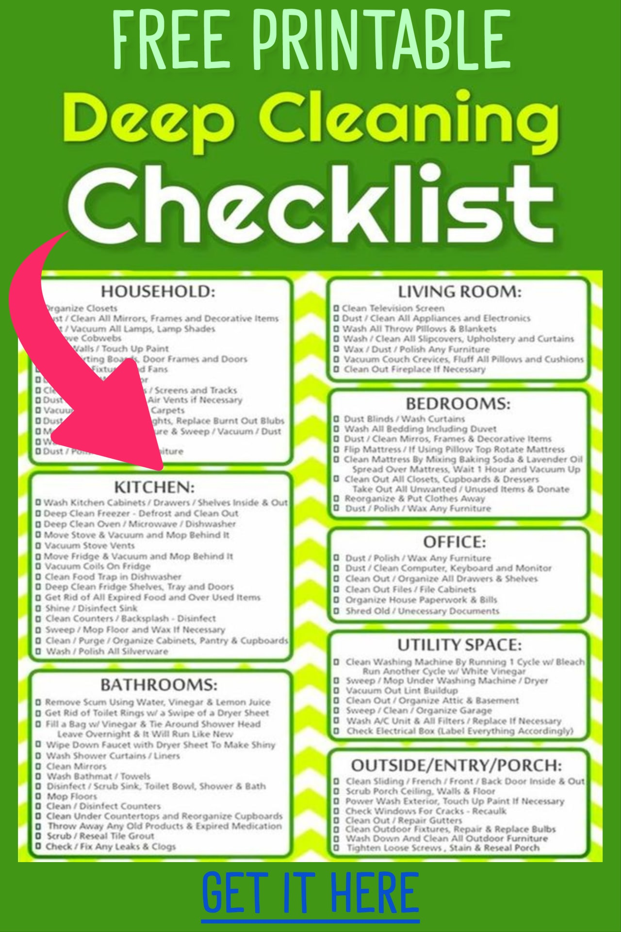 Cleaning Schedules Amp Checklists Daily Weekly Monthly