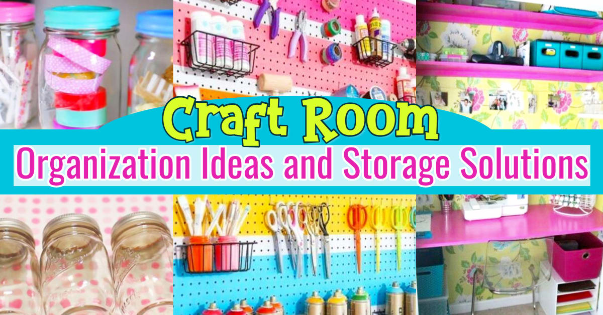 Craft Room Organization Unexpected Creative Ways To Organize Your Craftroom On A Budget