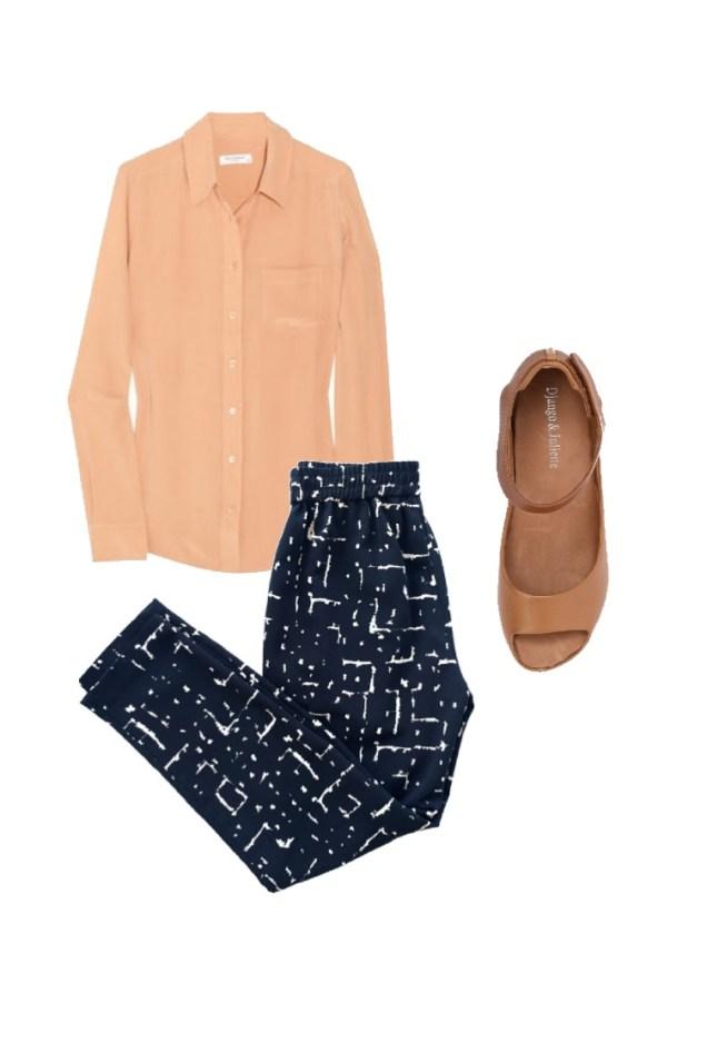 Silk shirt: Skin and Threads; Shoes: Django & Juliette