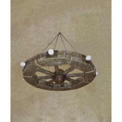 "Люстра ""Колесо"" с лампами ( диаметр 800 мм. )"