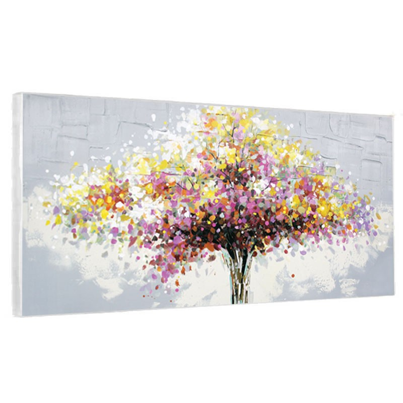 tableaux contemporains arbre colore granf format toile design