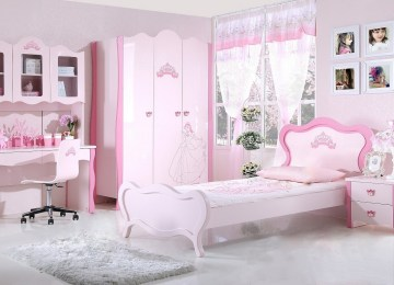 Chambre Fille Rose Princesse | Impressionnant Ambiance Chambre Fille ...
