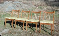 Vintage Mid Century Modern Dining Chairs by Red Lion Table ...