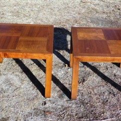 Vintage Lane Sofa Table Sectional Sleeper With Chaise Lounge Pair Mid Century Modern Solid Walnut End