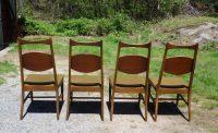 Vintage Set of 4 Mid Century Modern Bassett Dining Chairs ...