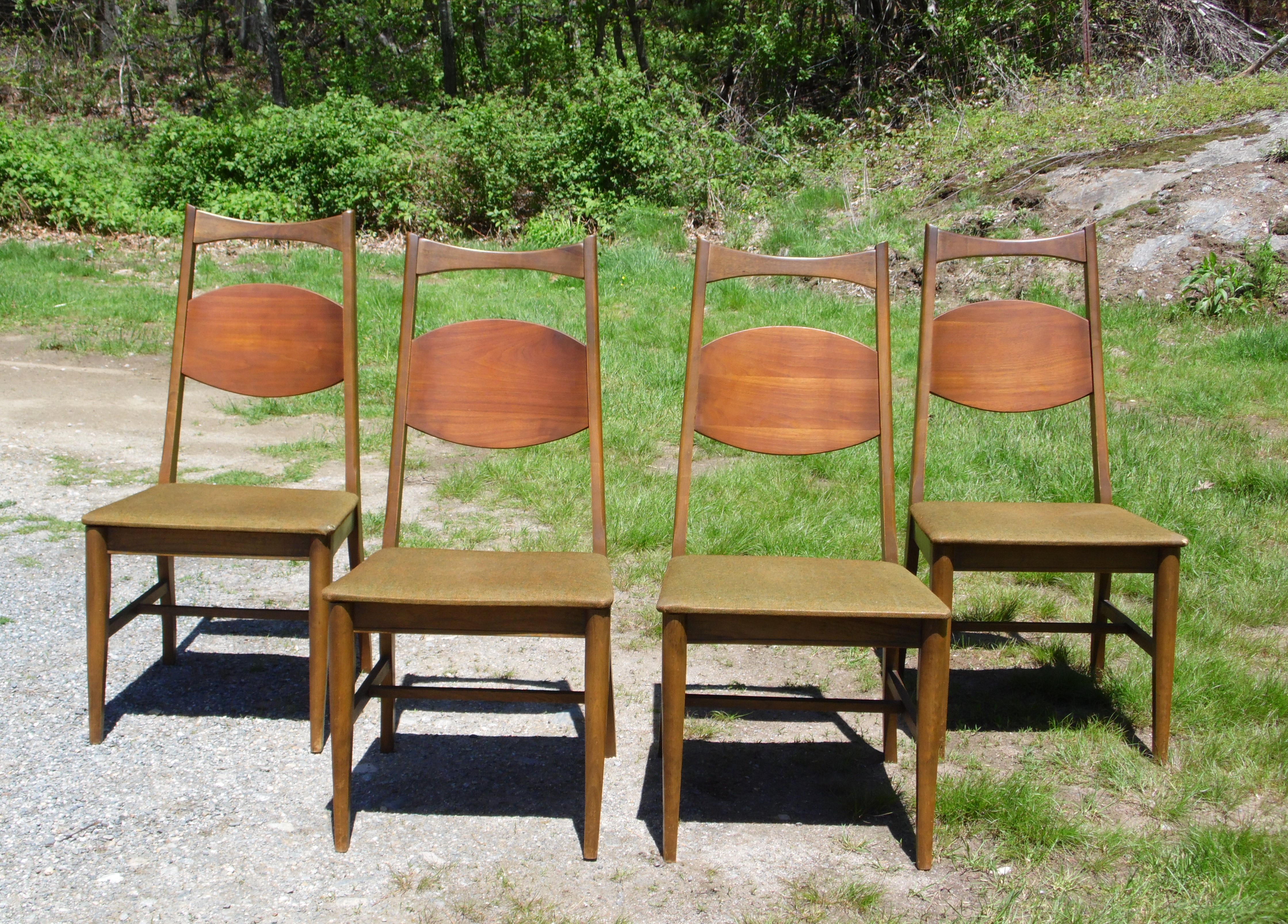 bassett furniture chairs office chair for disabled person vintage set of 4 mid century modern dining