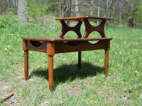 Mid Century Modern Step End Table Two Tier Sculptural ...