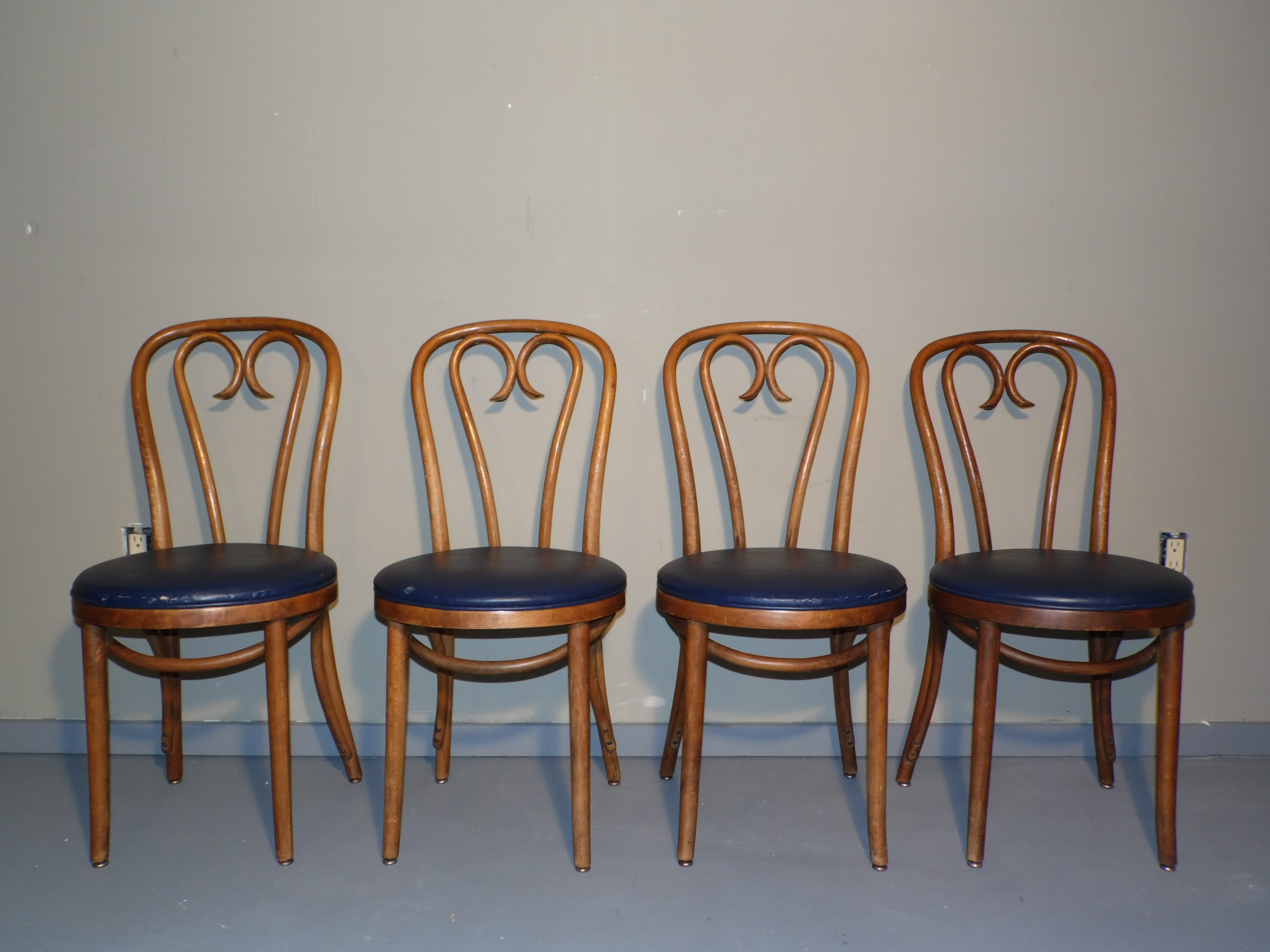 plastic bentwood bistro chairs chair cover rentals vancouver vintage set of 4 shelby williams dining cafe