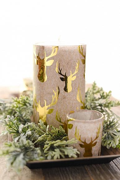 DecoArt Blog Crafts Decou Page Gold Stag Vase