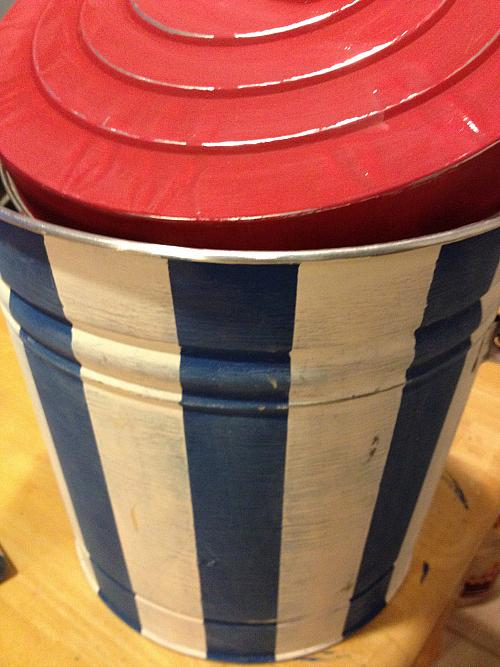 Metal Trash Can Cooler  Project by DecoArt