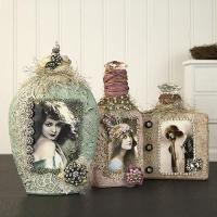 Vintage Altered Shabby Chic Bottles - Project by DecoArt