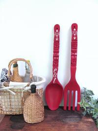 Giant Fork and Spoon Makeover with Chalky Finish - Project ...