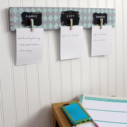 DIY Pallet To Do List Organizer Project By DecoArt