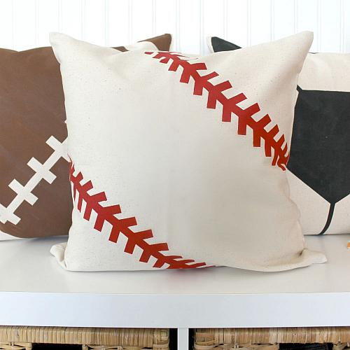 Sports Gear Painted Pillows  Project by DecoArt