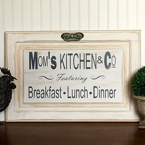 Moms Kitchen  Co Cabinet Door Sign  Project by DecoArt