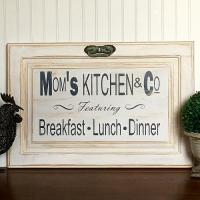 """""""Mom's Kitchen & Co"""" Cabinet Door Sign - Project by DecoArt"""