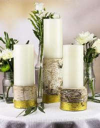 Birch Metallic Gold Candle Holders - Project by DecoArt